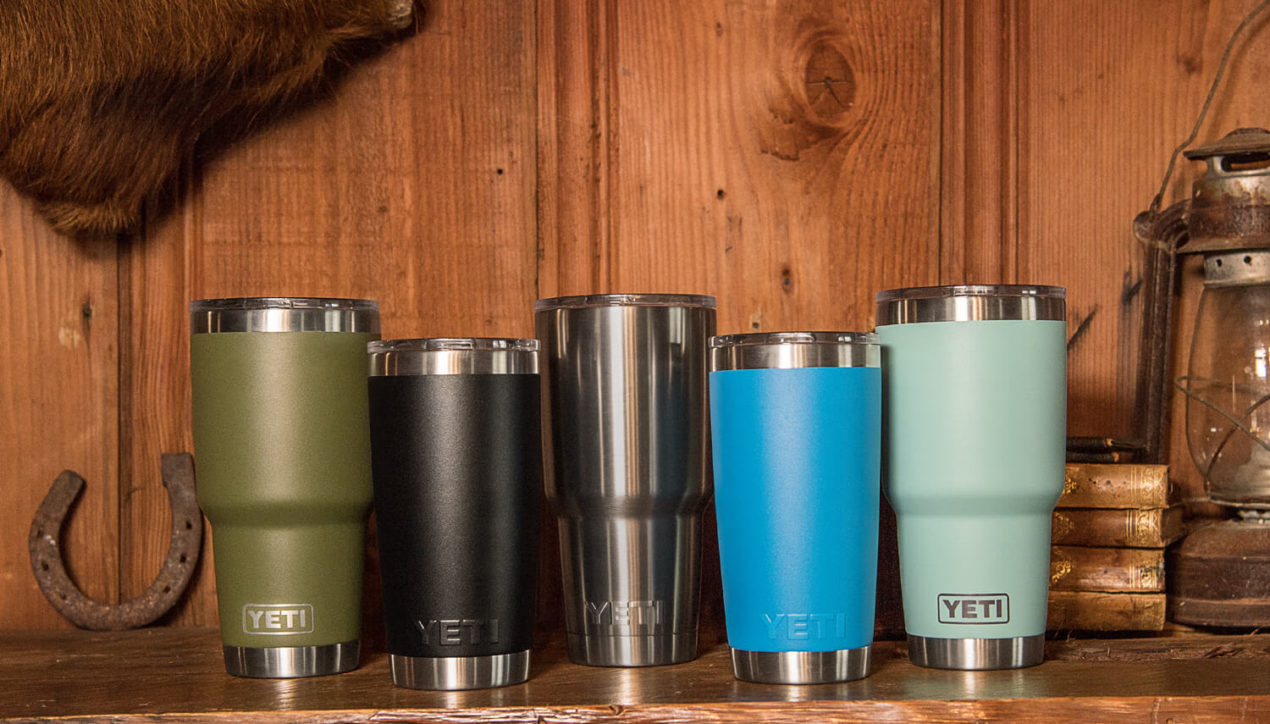 Yeti Ramblers Tumblers now in Duracoat Colors